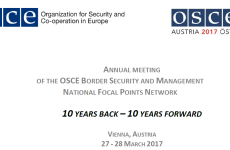 ANNUAL MEETING OF THE OSCE BORDER SECURITY AND MANAGEMENT NATIONAL FOCAL POINTS NETWORK