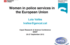 Women in police services in the European Union