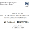 ANNUAL MEETING OF THE OSCE BORDER SECURI